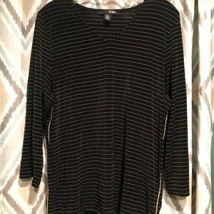 JCBC Brand New Womans Striped Top Black & White XL